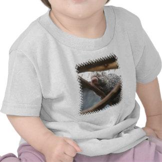 Puerco espín con la camiseta divertida del bebé de