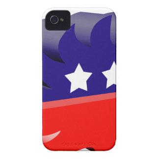 Puerco espín libertario 3D iPhone 4 Carcasas