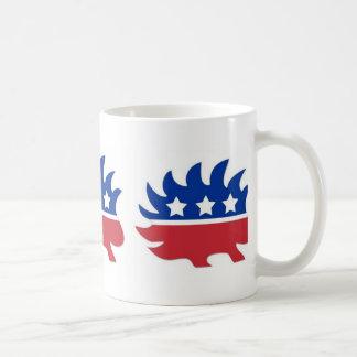 Puerco espín libertario taza clásica