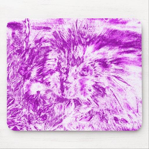 Puerco espín púrpura Mousepad