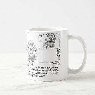 puerco espín taza de café