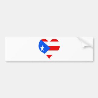 puerot rican heart car bumper sticker