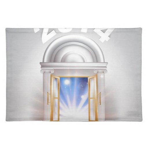 Puerta 2014 del Año Nuevo Mantel
