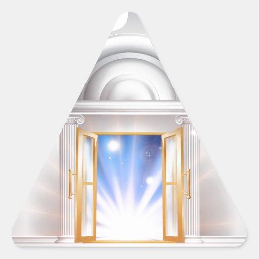 Puerta 2014 del Año Nuevo Calcomania De Triangulo Personalizadas