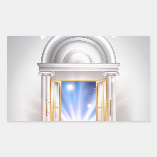 Puerta 2014 del Año Nuevo Rectangular Pegatinas