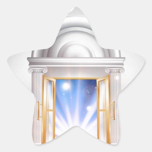 Puerta 2014 del Año Nuevo Calcomanía Cuadrada Personalizada