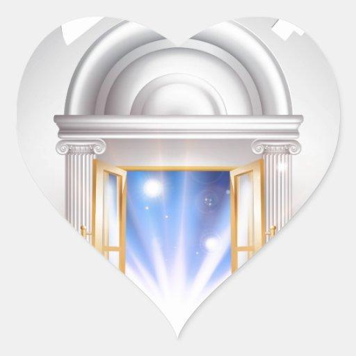 Puerta 2014 del Año Nuevo Calcomanías Corazones Personalizadas