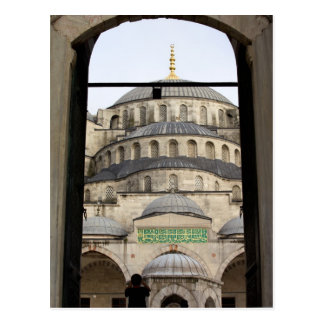 Puerta a la mezquita azul postales