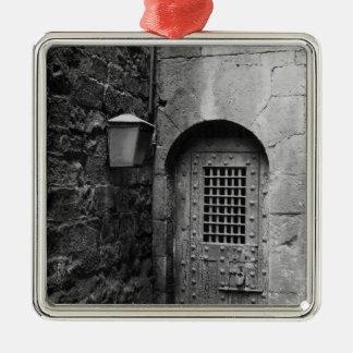 Puerta a la prisión de Newgate Adorno Navideño Cuadrado De Metal