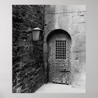 Puerta a la prisión de Newgate Posters
