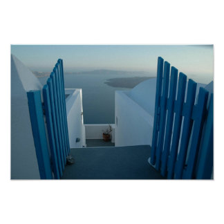 Puerta a Santorini Póster