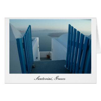 Puerta a Santorini Tarjeta De Felicitación
