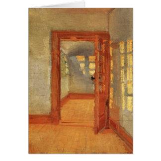 Puerta abierta Ana interior impresionista soleado  Tarjeta