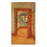 Puerta abierta Ana interior impresionista soleado  Tarjetas De Visita