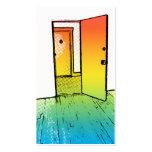 puerta abierta del estilo cómico: agente inmobilia tarjetas de visita