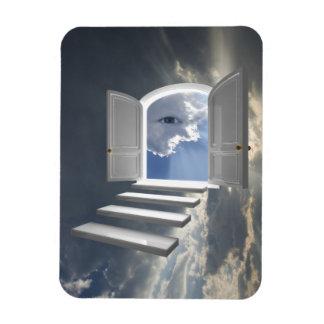 Puerta abierta en un ojo místico imanes rectangulares