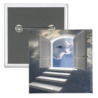 Puerta abierta en un ojo místico pin