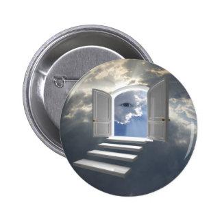 Puerta abierta en un ojo místico pin redondo de 2 pulgadas