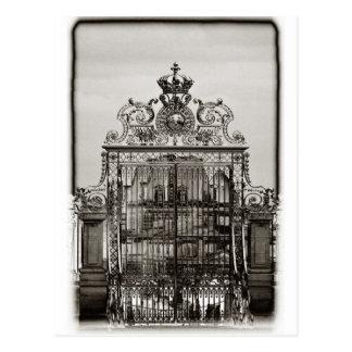Puerta adornada, Château Versalles Tarjeta Postal