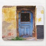 Puerta azul griega - Creta Tapete De Ratones