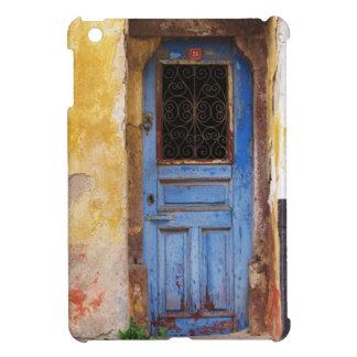 Puerta azul griega en CRETA, Grecia