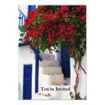 Puerta azul griega - Mykonos, Grecia invita Invitacion Personal