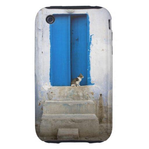 Puerta azul, Kairouan, Túnez, África iPhone 3 Tough Cárcasas
