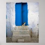 Puerta azul, Kairouan, Túnez, África Póster