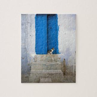 Puerta azul, Kairouan, Túnez, África Puzzles