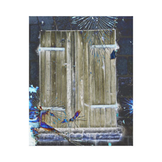 Puerta azul mística impresiones en lona