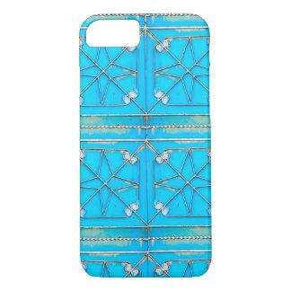 Puerta azul oxidada de Kharj del Al del vintage Funda iPhone 7
