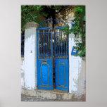 Puerta azul poster