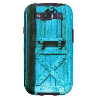 Puerta azul rústica tradicional Santorini GRECIA Galaxy SIII Fundas