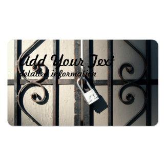 puerta bloqueada tarjetas de visita