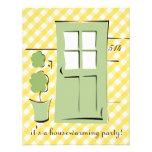 Puerta bonita del verde del apio invitacion personal