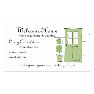 Puerta bonita del verde del apio tarjetas de visita