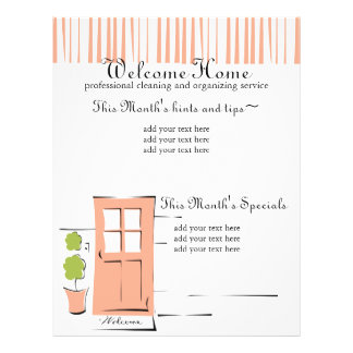 "Puerta coralina bonita folleto 8.5"" x 11"""