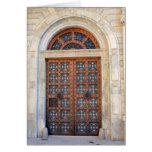 Puerta cuarta vieja de Barcelona - esconda la tarj