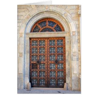 Puerta cuarta vieja de Barcelona - esconda la tarj Tarjeta De Felicitación