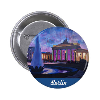 Puerta de Berlín Brandeburgo con la fuente en la Pins
