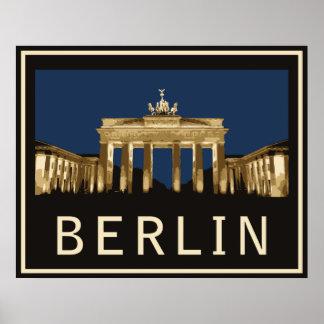 Puerta de Berlín Brandeburgo Póster