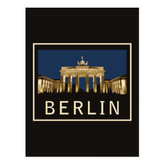 Puerta de Berlín Brandeburgo Postal