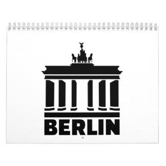 Puerta de Berlín Brandeburgo Calendario De Pared