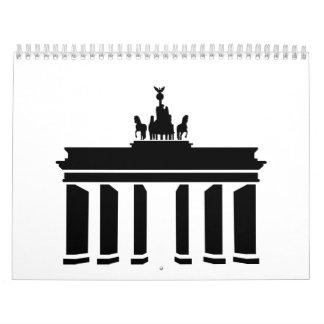Puerta de Berlín Brandeburgo Calendarios De Pared