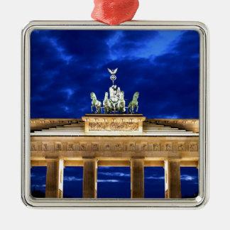 Puerta de Brandeburgo, Berlín Adorno Navideño Cuadrado De Metal