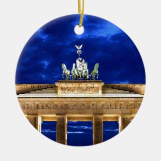 Puerta de Brandeburgo, Berlín Adorno Navideño Redondo De Cerámica
