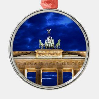 Puerta de Brandeburgo, Berlín Adorno Navideño Redondo De Metal