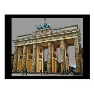 Puerta de Brandeburgo, Berlín, Alemania - a la Postal