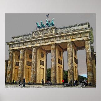 Puerta de Brandeburgo, Berlín, Alemania - a la vis Póster