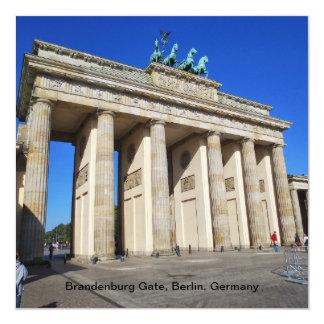 Puerta de Brandeburgo, Berlín, Alemania Invitación 13,3 Cm X 13,3cm